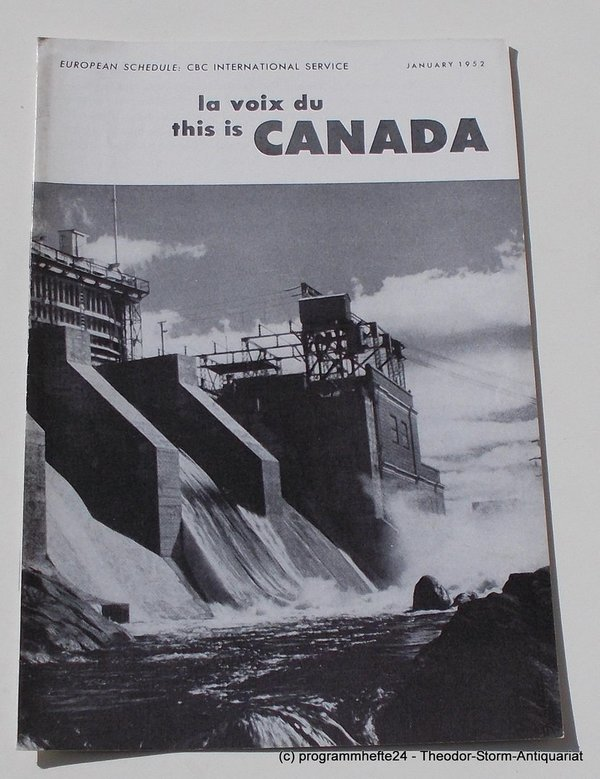 Programmheft This is Canada. La Voix du Canada JANUARY 1952