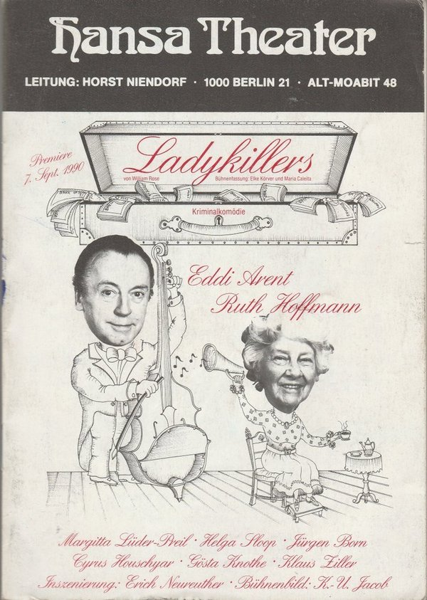 Programmheft William Rose LADYKILLERS Hansa Theater Berlin 1990