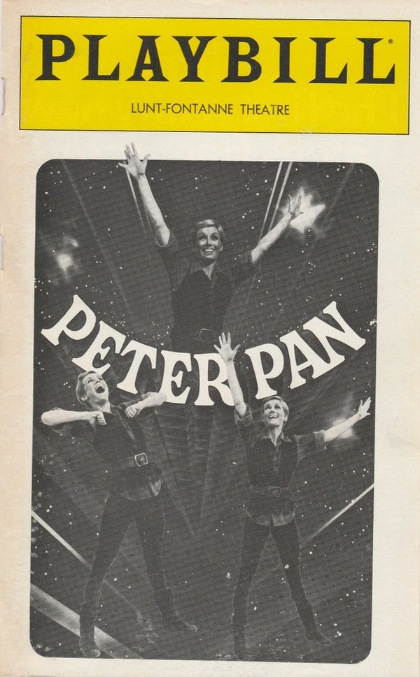 Sandy Duncan as PETER PAN December 1980 Playbill, LUNT-FONTANNE THEATRE