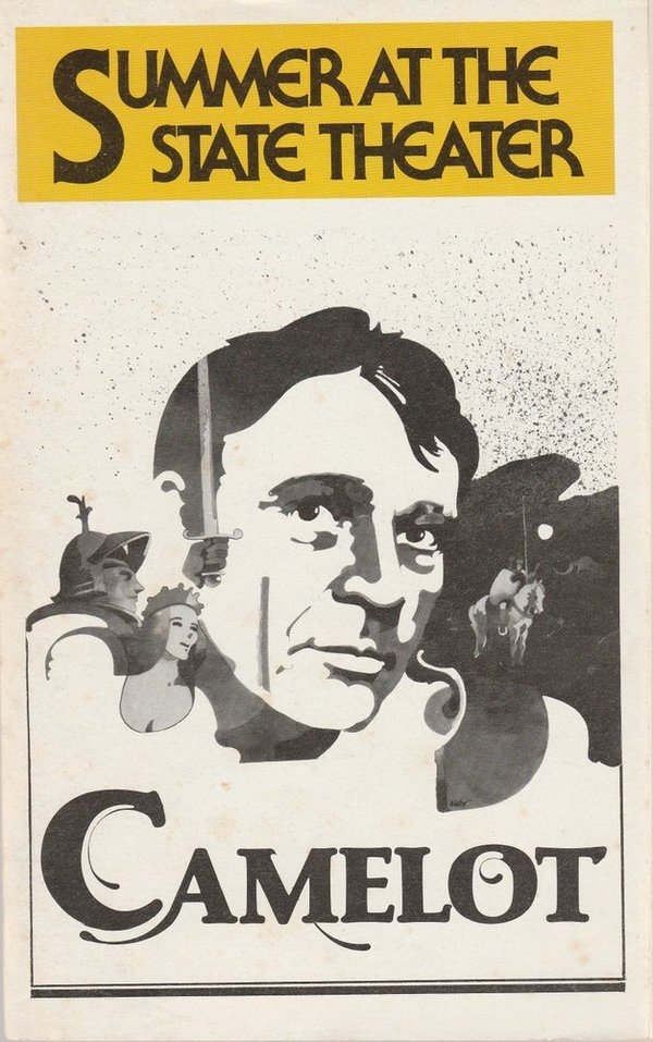 RICHARD BURTON in CAMELOT August 1980 Playbill, Summer at The State Theater