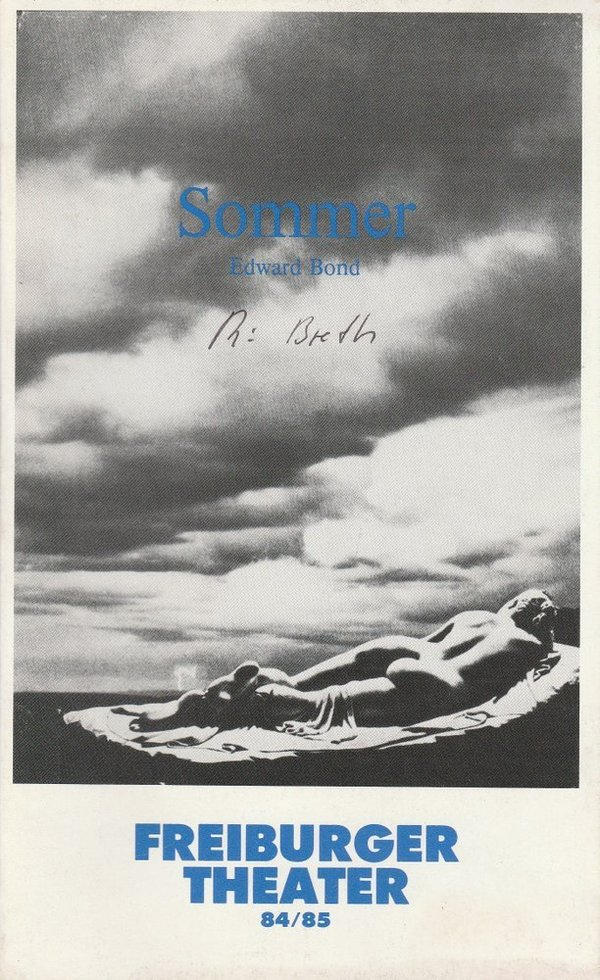 Programmheft Edward Bond: SOMMER Freiburger Theater 1984