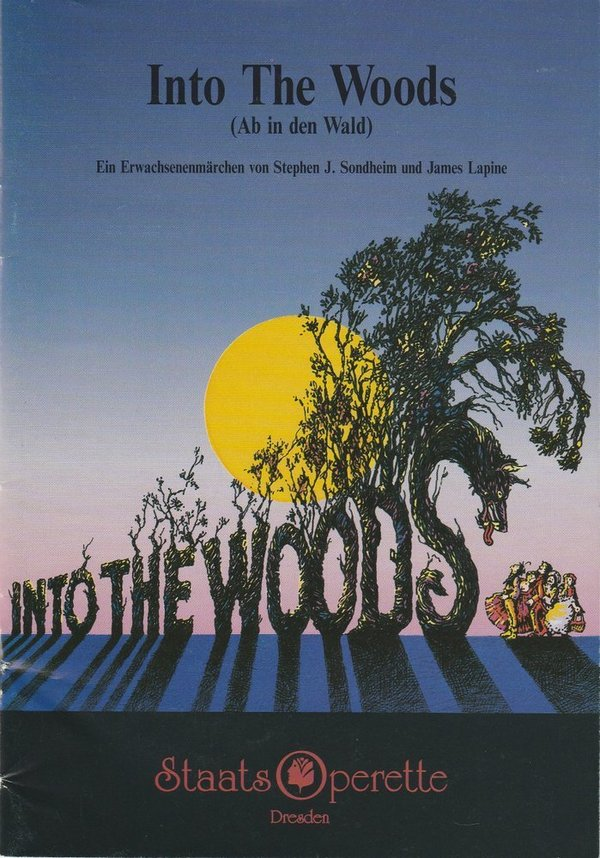 Programmheft Into The Woods Staatsoperette Dresden 1993