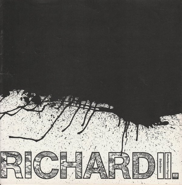 Programmheft RICHARD II. William Shakespeare Stadttheater Luzern 1979