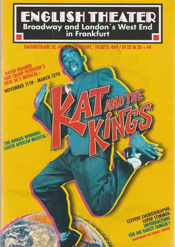 Programmheft Kramer / Petersen KAT AND THE KINGS The English Theater 1998