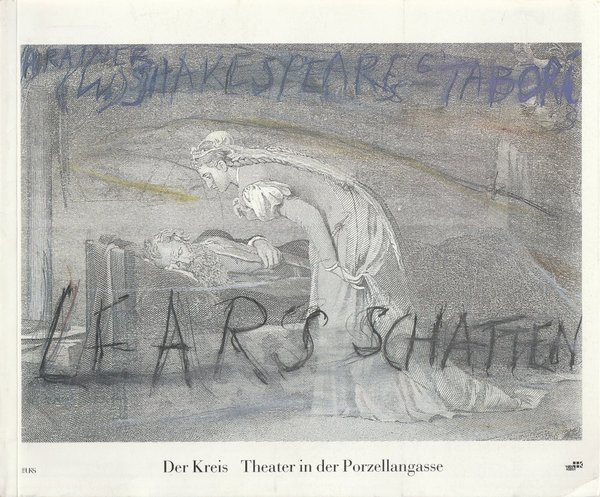 Programmheft William Shakespeare LEARS SCHATTEN Theater Der Kreis 1989