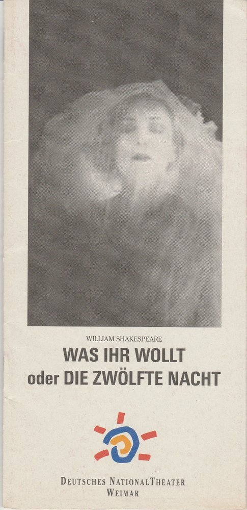 Programmheft William Shakespeare WAS IHR WOLLT Nationaltheater Weimar 1995