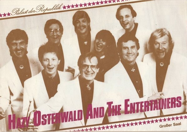 Programmheft HAZY OSTERWALD AND THE ENTERTAINERS Palast der Republik 1989